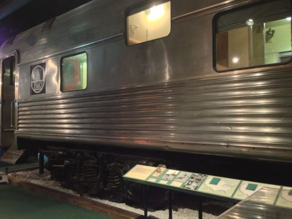Pullman car used during train travel era