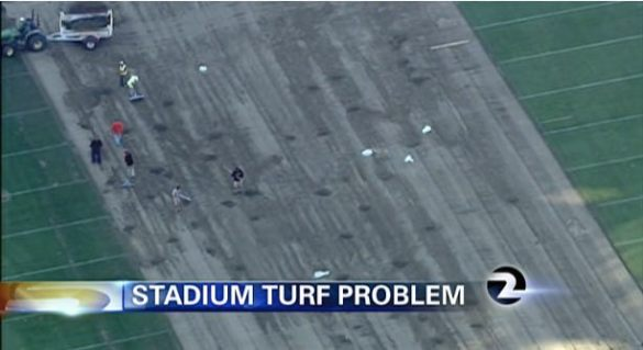 Still of overhead footage taken by KTVU's traffic helicopter