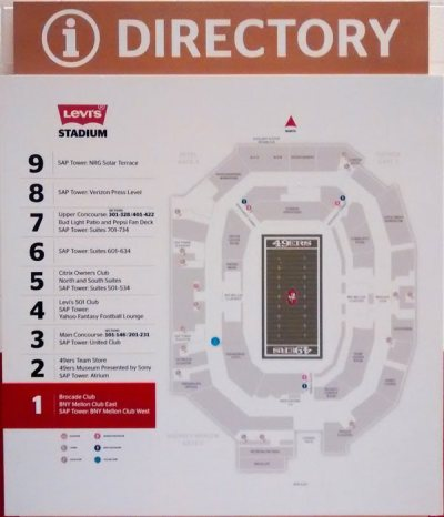 Levi's Stadium has 9 levels within the SAP Tower