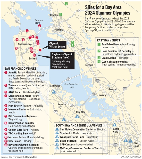 Mercury News map shows locations of venues, does not include new Oakland stadium at Coliseum