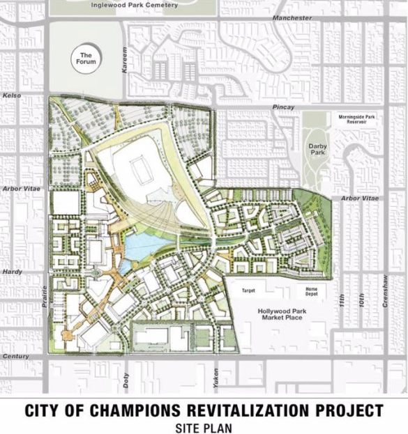 New Hollywood Park plan with football stadium
