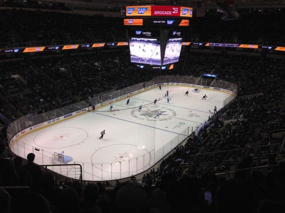 View from my 10-game SharkPak seats during the 2013-14 season