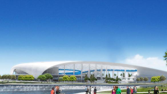 Stan Kroenke's planned indoor stadium in Inglewood