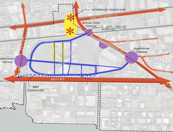 Road plan for Coliseum City
