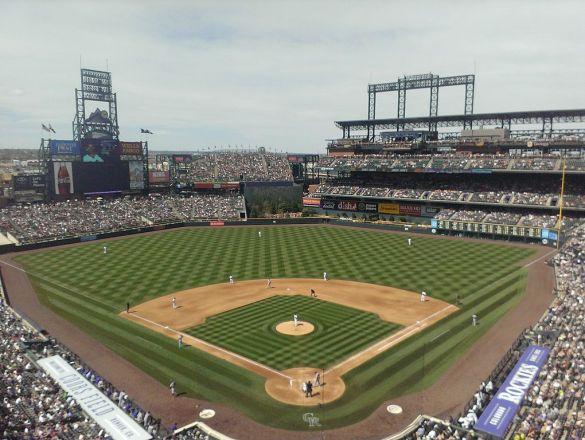 Coors Field in 2014, Rooftop Bar in RF upper deck