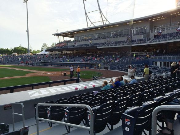 Seating at First Tennessee Park