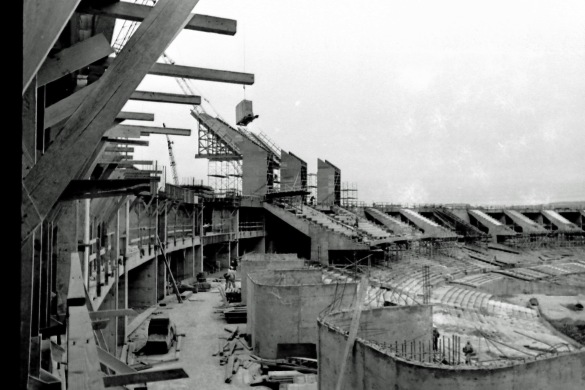 An under construction Coliseum in more hopeful times