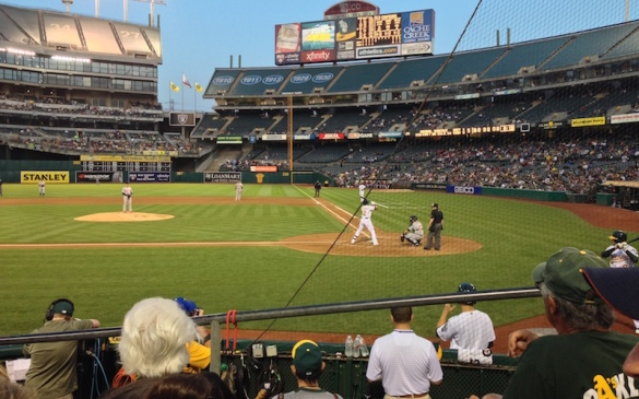 """Part of the view from Section 119 is """"obstructed"""" by the backstop net"""